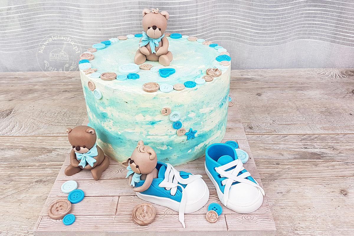 Obrazek: Piętrowy tort komunijny dla dziewczynki